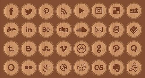 Wooden-social-media-icons