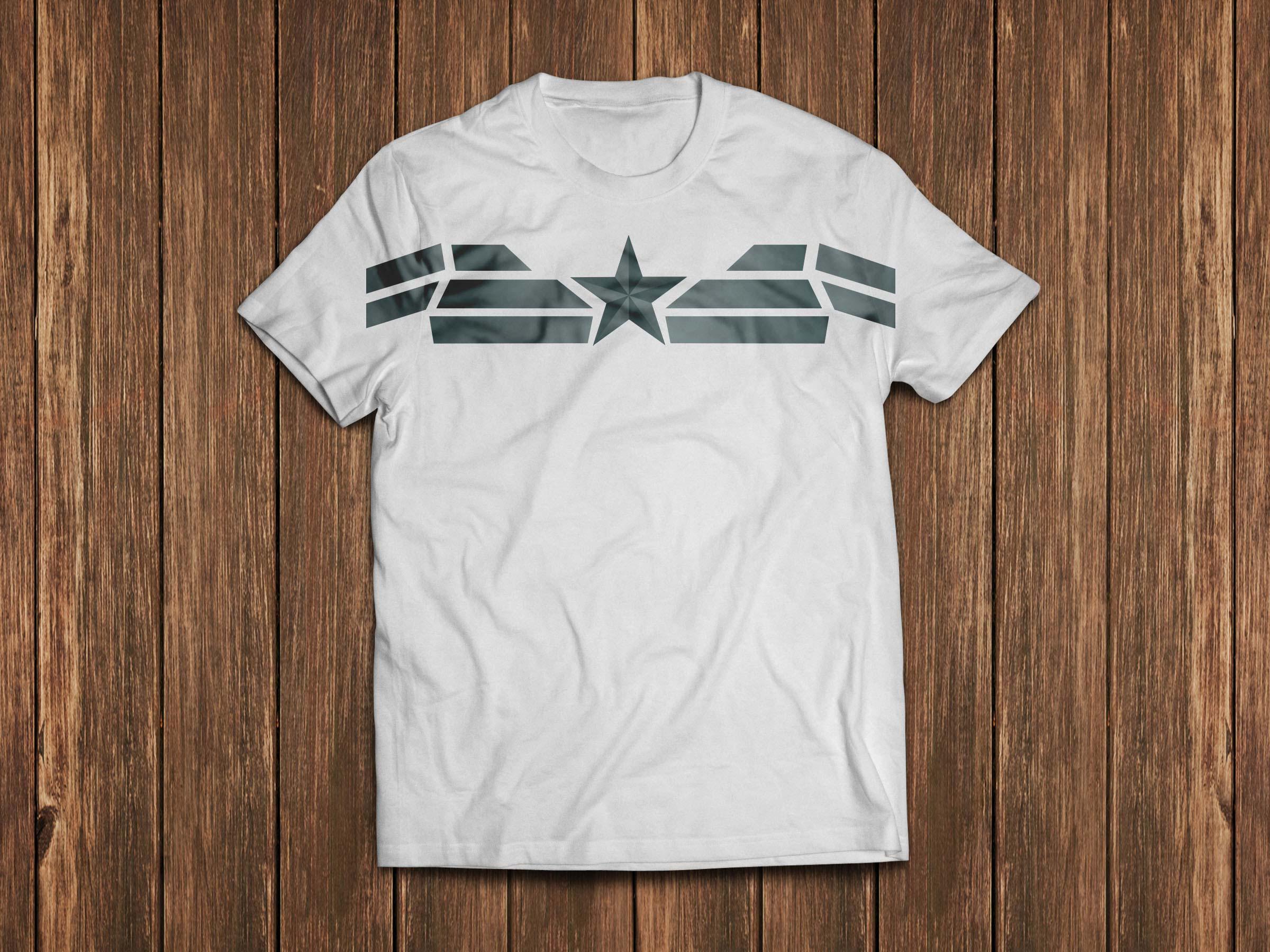 Tshirt design - Captain America The Winter Soldier T Shirt Design