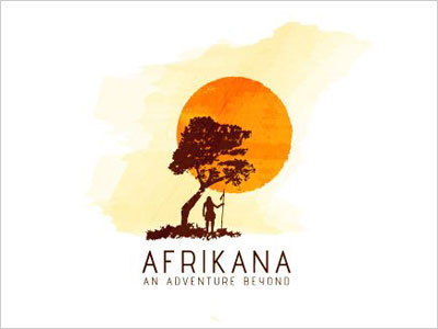 Afrikana-water-paint-logo-design