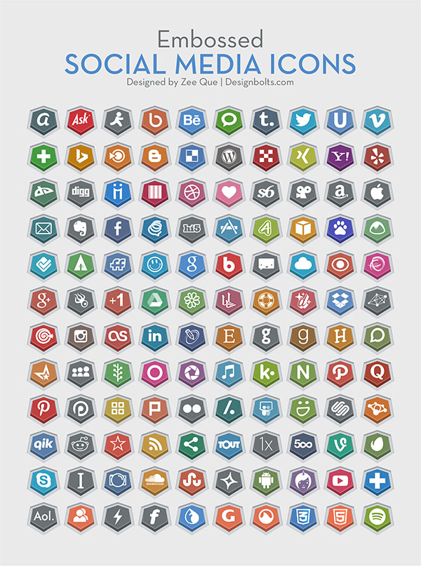 Embossed-Free-Social-Media-Icons-vector-ai-256-Pngs