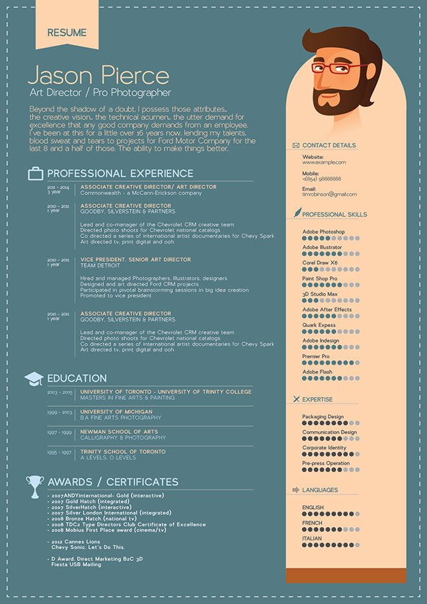 Free Resume (CV) Template & Mock-up PSD For Graphic Designers