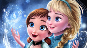 Frozen-Elsa-&-Anna-Digital-Fan-Art-Wallpapers