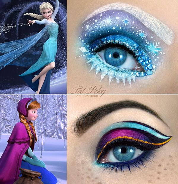 Frozen-anna_&-elsa_eye-make-up