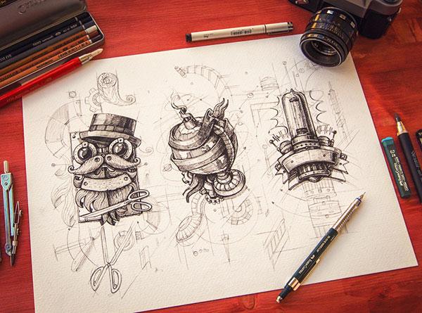 Inspiring-logo-sketching