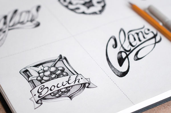 Logo-design-sketching
