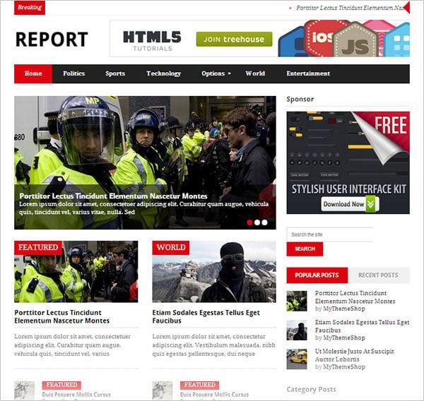 Report-simple-double-column-wordpress-theme