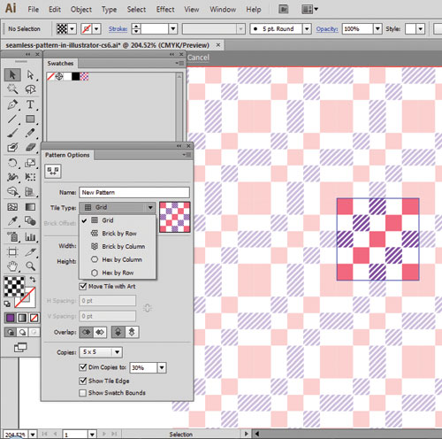 Seamless-Pattern-illustrator-cs6-tutorial-2