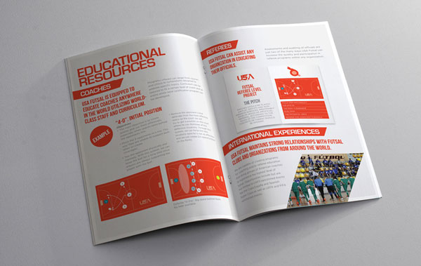 usa futsal brochure designs ideas 5 - Booklet Design Ideas