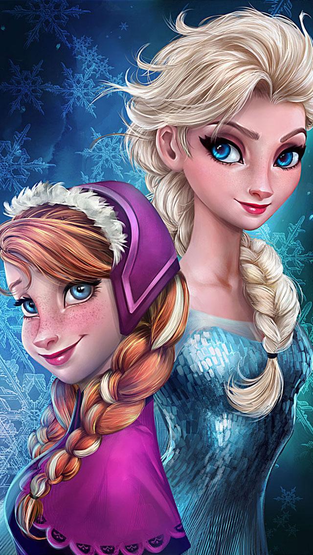 Frozen Elsa Anna Digital Fan Art Wallpapers