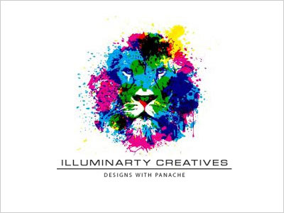 lion-painting-logo-design