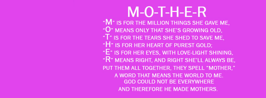 2014 Mother Quotes Facebook Cover ...