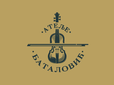 Batalovic-violin-logo-design