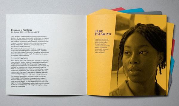 Designers in residence brochure design 2 20 Best Examples of Brochure Design Projects for Inspiration