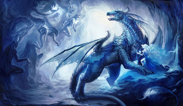 Dragon_Magic_Digital-art-Painting-by-sakimichan