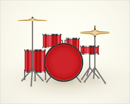 Drum-Kit-Illustration-Adobe-Illustrator-Tutorial
