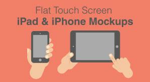 Free-Flat-Touch-Screen-iPad-&-iPhone-Mockup-Ai-&-Eps-File
