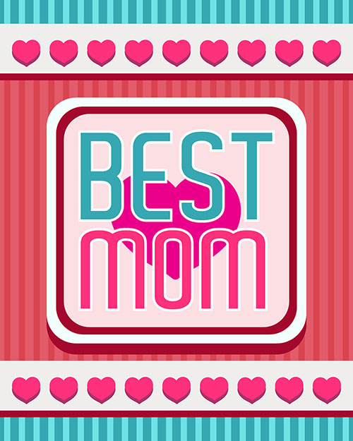 Free-Vector-Best-Mom-Card-Design