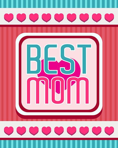 Free Vector Best Mom Card Design اجمل واجمد بوستات عيد الام 2015 2016