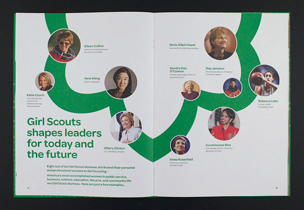 Girl Scouts Brochure design 2 20 Best Examples of Brochure Design Projects for Inspiration