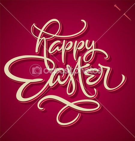 HAPPY-EASTER-hand-lettering-vector