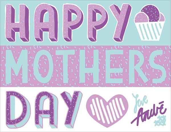 Happy mothers day vector image 2 اجمل واجمد بوستات عيد الام 2015 2016
