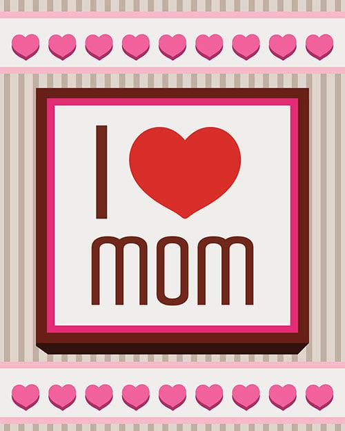 I love you mom Free greeting cards 2014 اجمل واجمد بوستات عيد الام 2015 2016