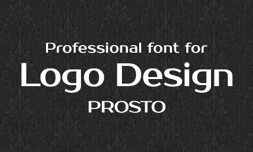 Prosto free professional font for logo design 15 Best & Beautiful Free Fonts for Logo Design 2014