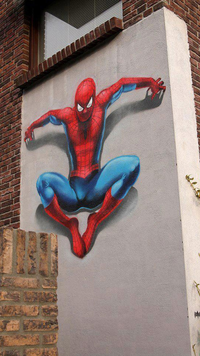 The-Amazing-Spider-Man-2-iPhone-5-Street-art-wallpaper