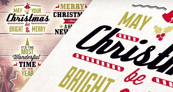 Vector-christmas-typography