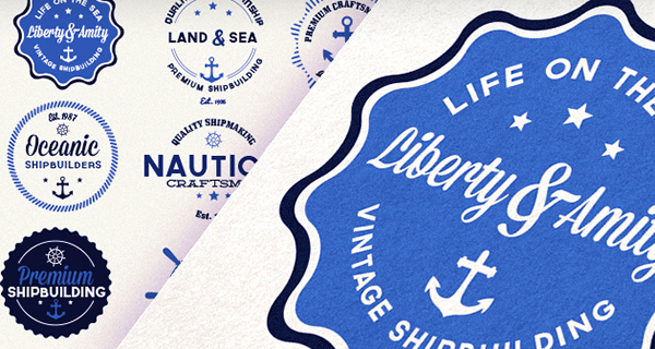 Vector-nautical-badges