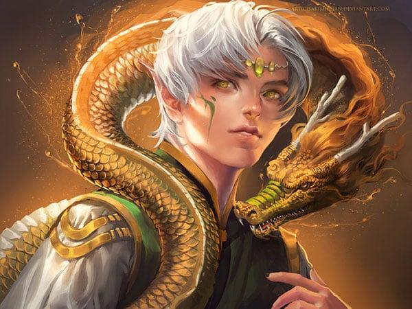 dragon_boy_Digital-art-Painting-by-sakimichan