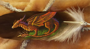 Beautiful-Feather-Paintings-A-Phenomenal-Art-by-Alvia-Alcedo