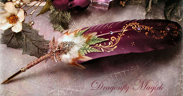 DRAGONFLY_MAGICK_Feather_Pen_by_ChaeyAhne