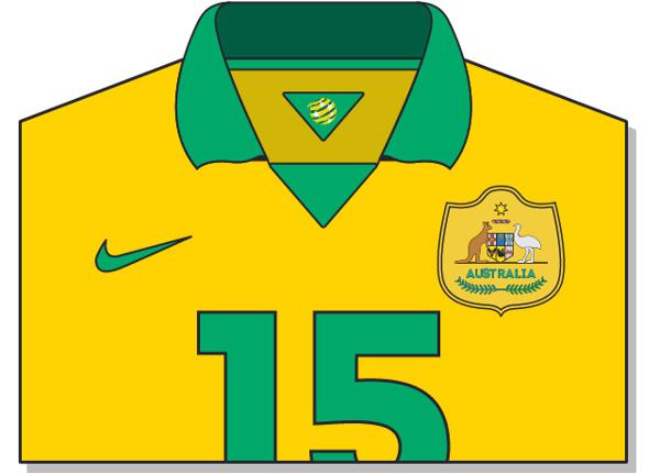 Fifa-World-Cup-Brazil-2014-Australia-Jersey-t-shirt-design