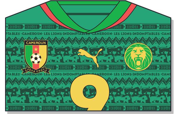 Fifa-World-Cup-Brazil-2014-Cameroon-Jersey-t-shirt-design