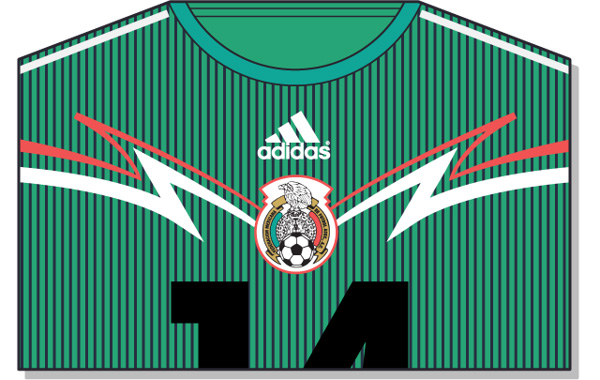 Fifa-World-Cup-Brazil-2014-Mexico-Jersey-t-shirt-design