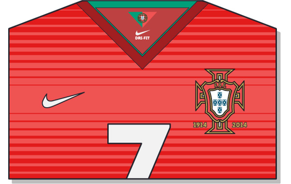 Fifa-World-Cup-Brazil-2014-Portugal-Jersey-t-shirt-design