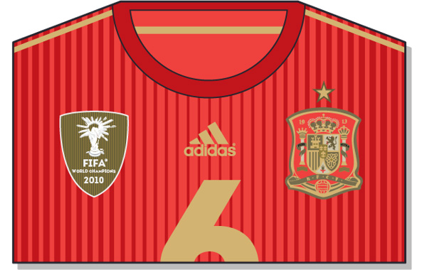 Fifa-World-Cup-Brazil-2014-Spain-Jersey-t-shirt-design