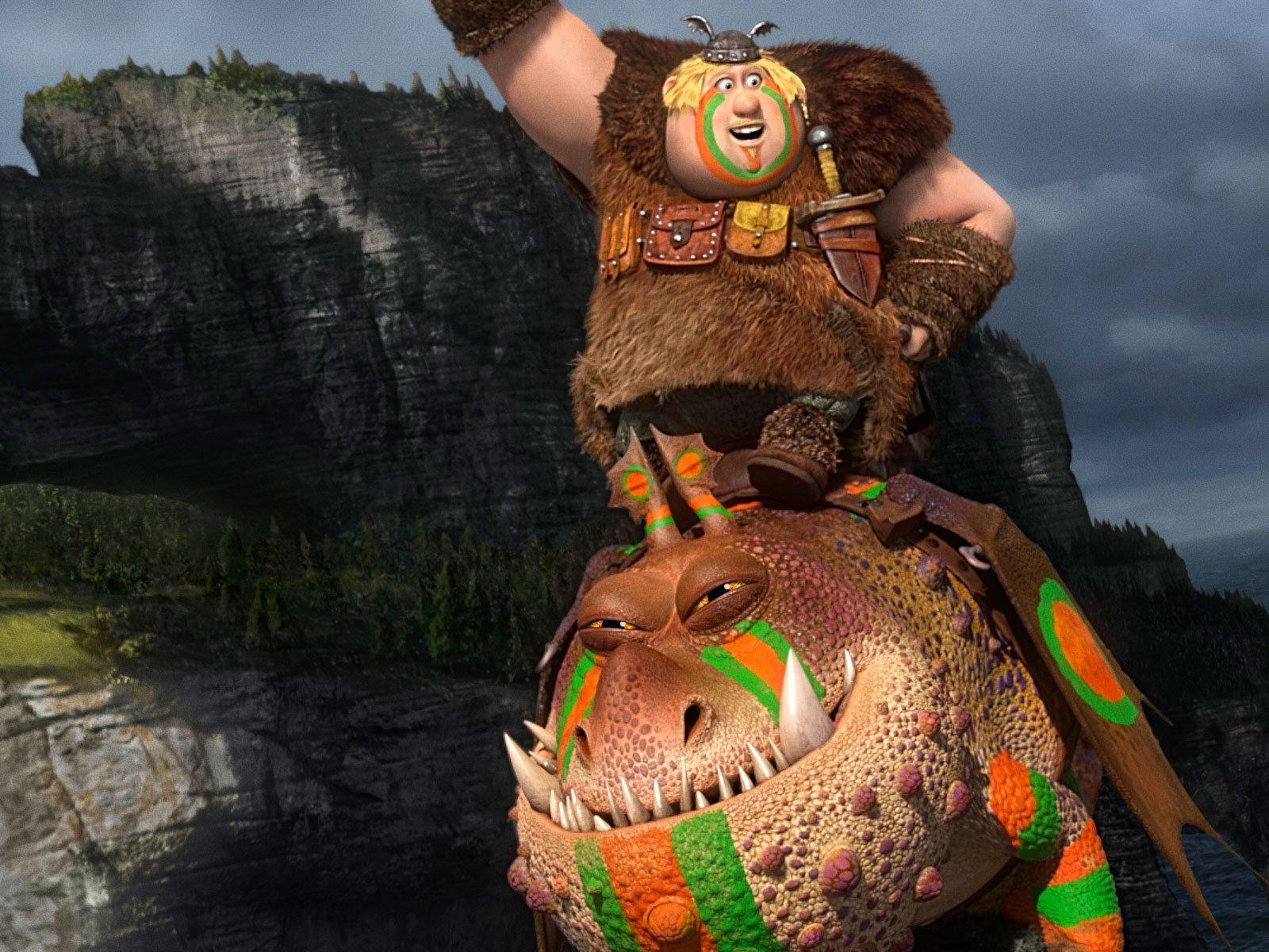 Fishlegs & Meatlug Wallpaper Hd How To Train Your Dragon 2 Meatlug Power  Dragon Spike Blast