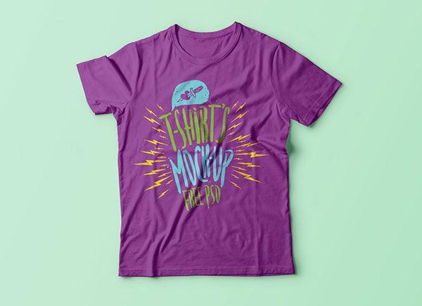 Free-Half-Sleeves-T-Shirt-Mockup-PSD