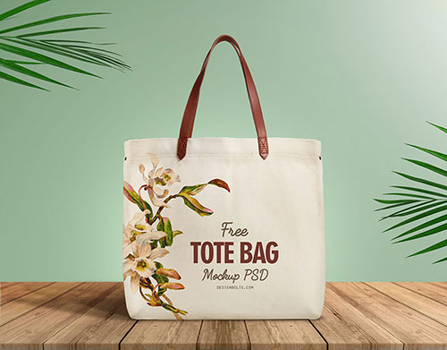 Free-Organic-Cotton-Tote-Bag-With-Leather-Strap