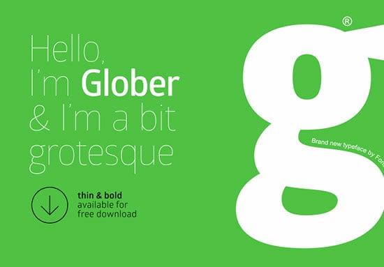 Glober-free-sans-serif-font