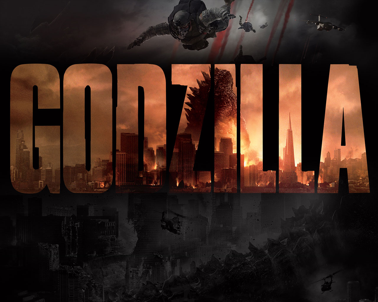 Godzilla Movie 2014 HD, iPhone & iPad Wallpapers – Designbolts  Godzilla Movie ...