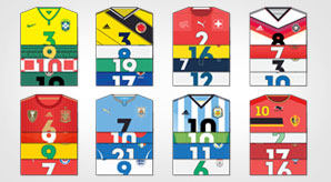 List-of-Fifa-World-Cup-Brazil-2014-Teams-Jerseys-in-Flat-Designs