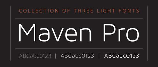 MAVEN-PRO-free-font