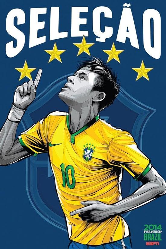Brasil e herzegovina espn Brasil copa do mundo de futebol 2014 cartaz ESPN Brasil Copa do Mundo de Futebol 2014 Poster Series by Cristiano Siqueira