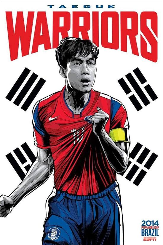 Coreia do Sul espn Brasil copa do mundo de futebol 2014 cartaz ESPN Brasil Copa do Mundo de Futebol 2014 Poster Series by Cristiano Siqueira