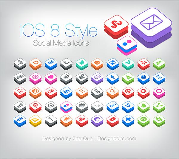 50-Free-iOS-8-Style-Social-Media-Icons-2014