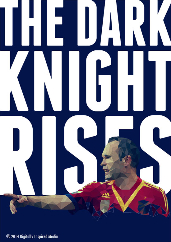 Andres-Iniesta-The-dark-Knight-Rises-World-Cup-2014-poster