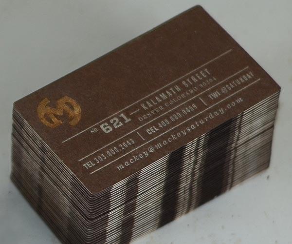 Brown Business card design example 3 30+ Beautiful Examples of Modern Business Card Designs for Inspiration